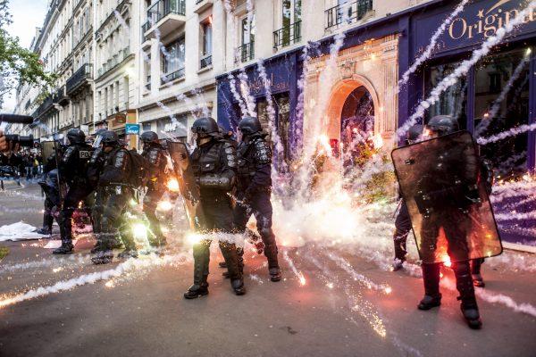 Manifestation du 1er mai, fête des travailleurs.  PARIS – 1er mai 2017