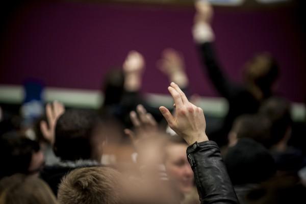 Vote lors des premières AG de Lille 3 contre la loi travail El Khomri