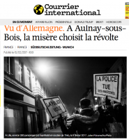 Courrier International – Photo manif Lille en soutien à Théo, le 9 février 2017