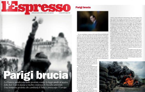 L'ESPRESSO (Italy) – 9 june 2016