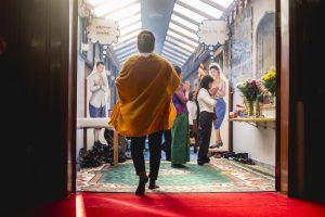 ROUBAIX, FRANCE, 17 SEPTEMBRE: Commémoration de Pchum Ben,  la fête bouddhiste théravada Khmer qui célèbre les morts et favorise la réincarnation, à Roubaix, le 17 septembre 2017.