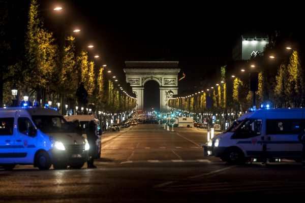 PARIS, FRANCE – APRIL 20: A policeman was killed on Thursday at the Champs-Elysees in Paris, and two others were seriously wounded in a shooting . The author of the shots was also killed, in Paris, France on April 20, 2017.