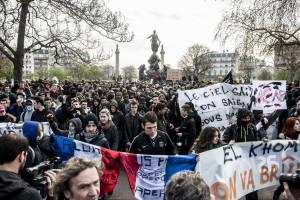 Les lycéens se sont donnés rendez-vous Place de la Nation à Paris