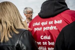 Thierry Devimeux, nouveau sous-préfet de Valenciennes vient constater le blocus