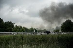 blocage devant le dépôt pétrolier de Douchy-les-Mines. Le repos du guerrier.
