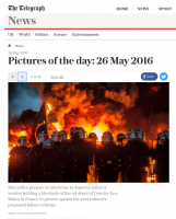WEB – THE TELEGRAPH Pitcures of the day 26 may 2016