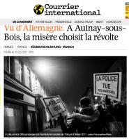 Courrier International – Photo manif Lille en soutien à Théo, le 9 février 2017