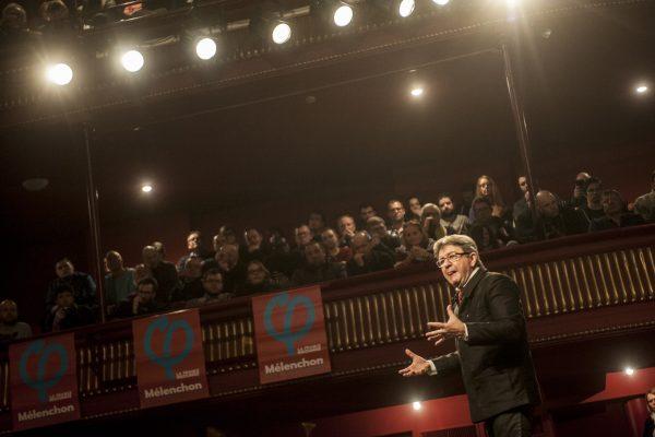 Meeting de Jean Luc Mélenchon à Tourcoing 8 janvier 2017